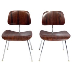 Charles and Ray Eames Rosewood DCM Chairs