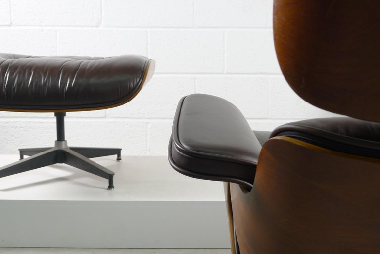 American Charles and Ray Eames, Rosewood Lounge Chair and Ottoman, Herman Miller, USA