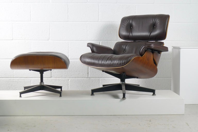 Late 20th Century Charles and Ray Eames, Rosewood Lounge Chair and Ottoman, Herman Miller, USA