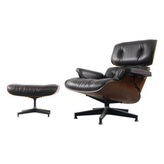 Charles and Ray Eames, Rosewood Lounge Chair and Ottoman, Herman Miller, USA
