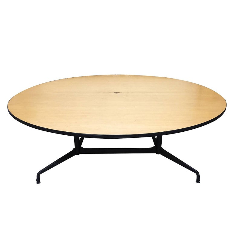 Mid-Century Modern Charles and Ray Eames Round Conference Table by Herman Miller For Sale