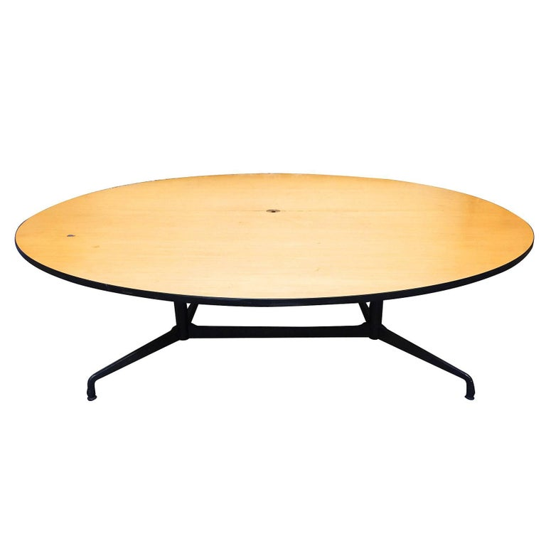 American Charles and Ray Eames Round Conference Table by Herman Miller For Sale