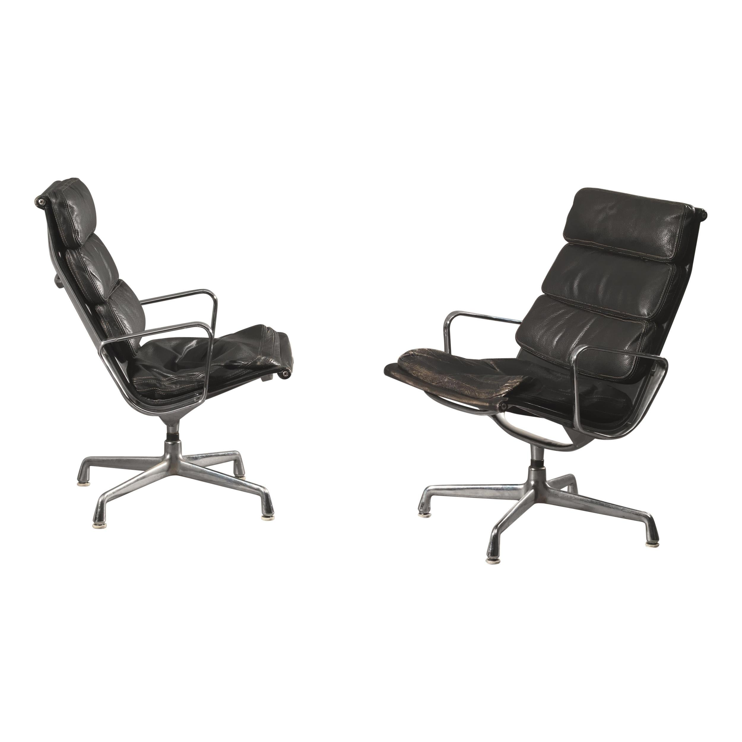 Charles and Ray Eames Set of Two Armchairs Time-Life Herman Miller, 1960