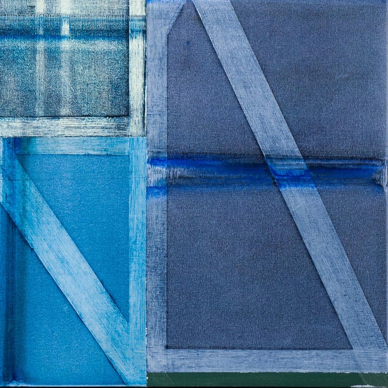 Soriano - Blue Abstract Painting by Charles Arnoldi