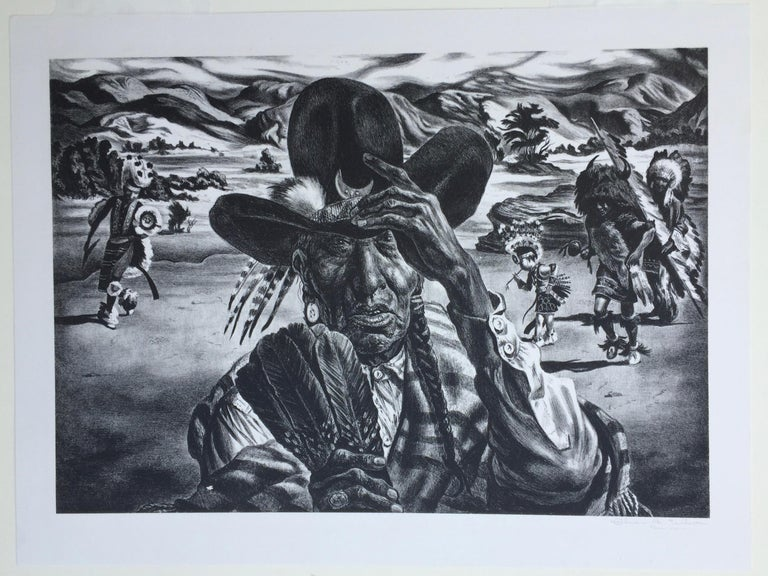 Comanche Portrait - Print by Charles Banks Wilson