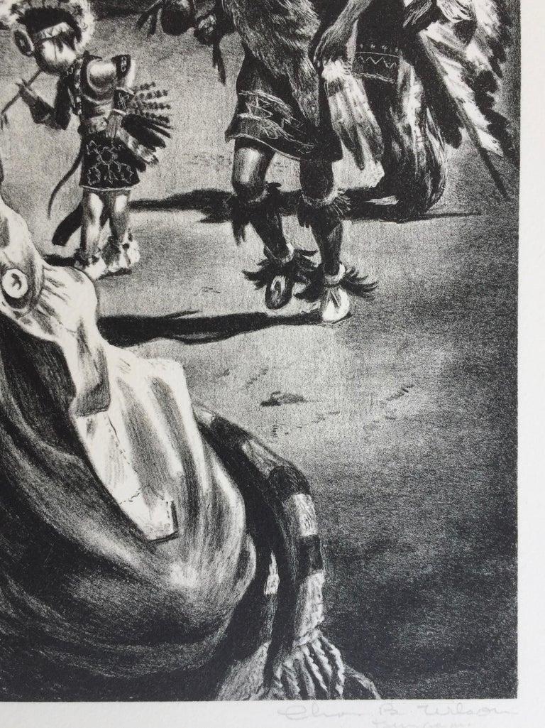 Comanche Portrait - American Modern Print by Charles Banks Wilson