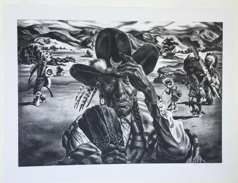 Comanche Portrait - Black Figurative Print by Charles Banks Wilson