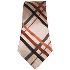 Charles beige multicoloured tie