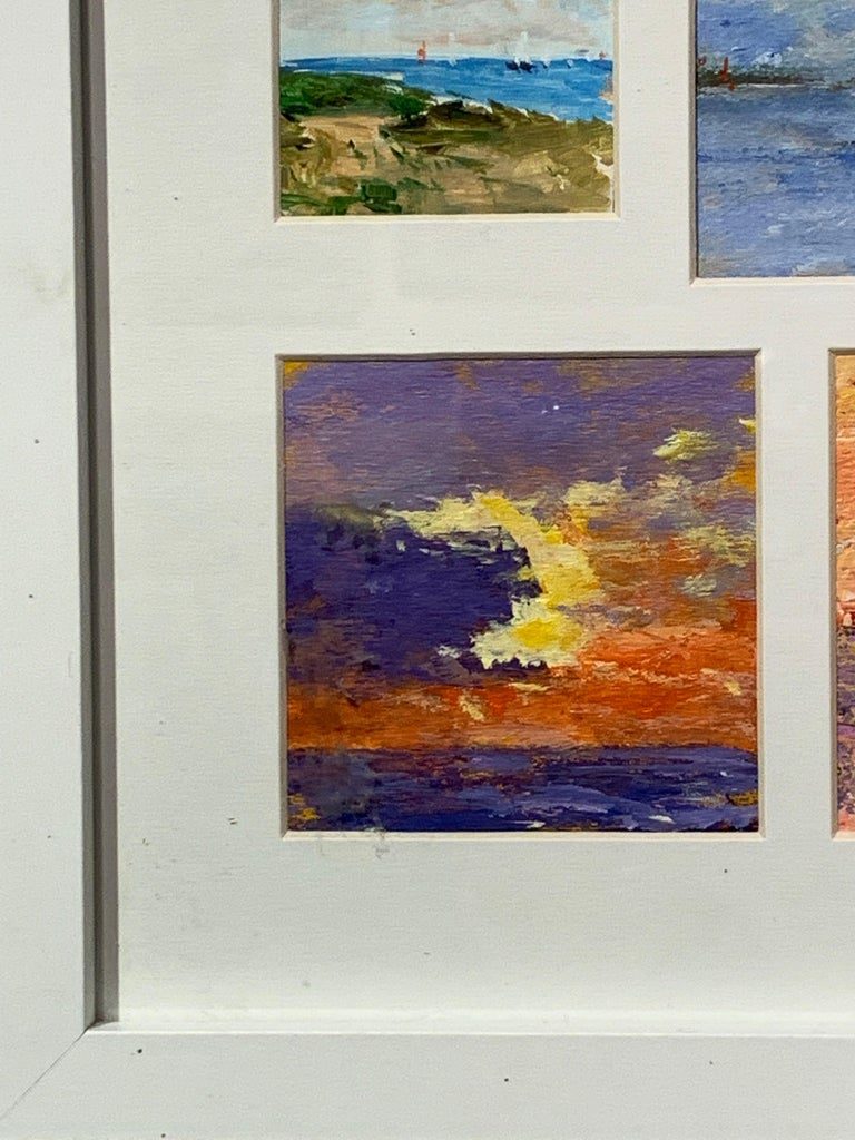 American Impressionist, Sunset off the East Coast of America and Nantucket.  Charles Bertie Hall painted scenes all over England, Europe, and America in a traditional Impressionist manner. He exhibited in London and many of his paintings are held in