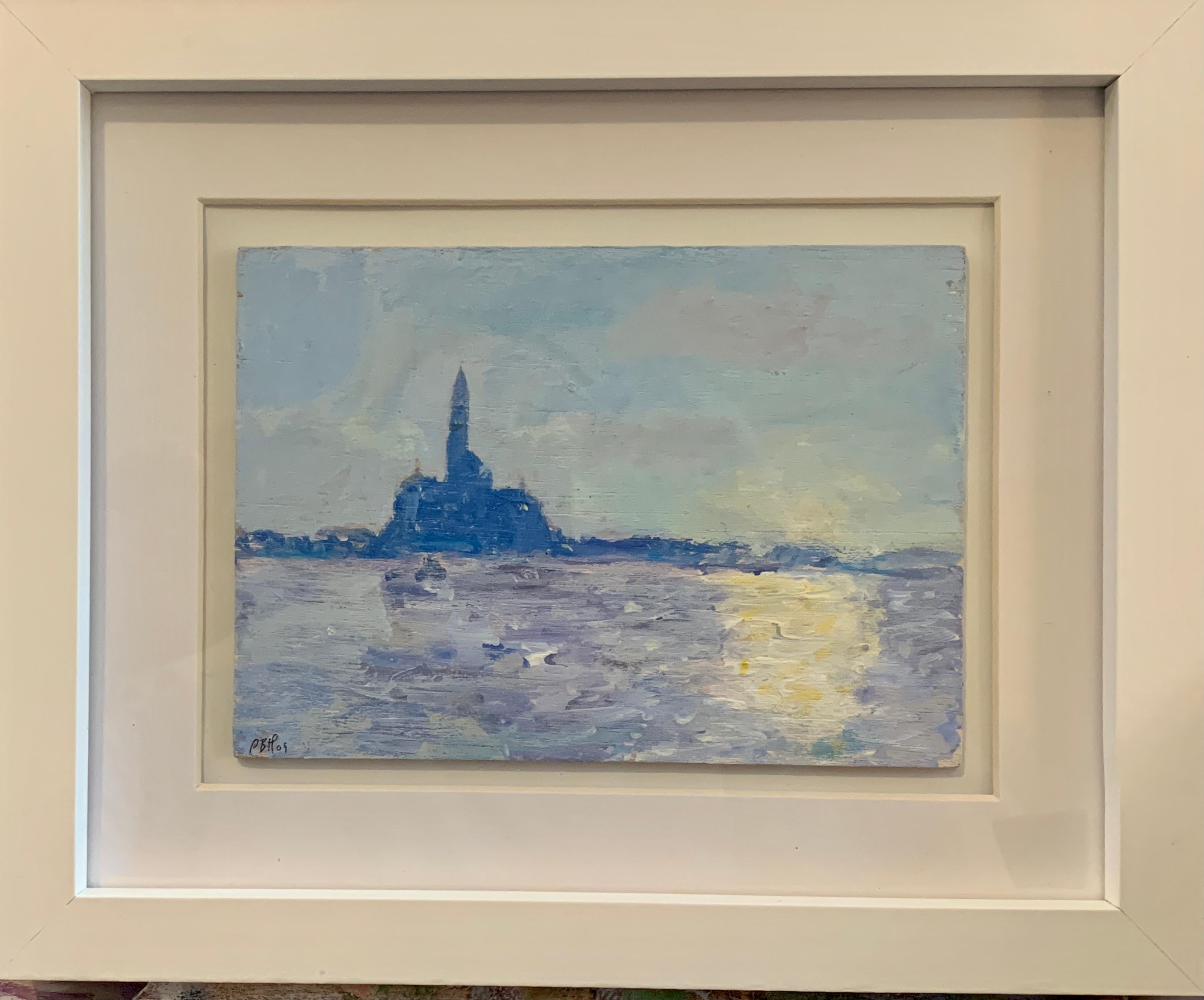 Impressionist oil sketch of Venice Italy, from the Grand Canal