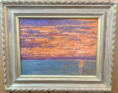 Summer 2019 Sunset in Nantucket with landscape near Madaket