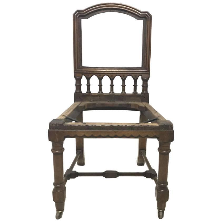 Charles Bevan Attributed, Gothic Revival Oak Desk or Side Chair