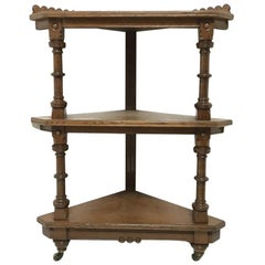 Charles Bevan for Marsh Jones & Cribb. A Gothic Revival Oak Étagère/Corner Piece