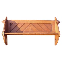 Charles Bevan Style a Gothic Revival Hanging Oak Shelf with through Tenon Joints