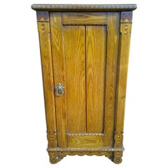 Charles Bevan Style of Gothic Revival Bedside Cab with Inlaid Details Throughout