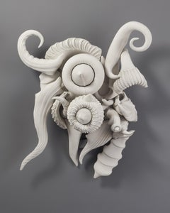 Charles Birnbaum, Wall Piece No. 20, biomorphic porcelain sculpture