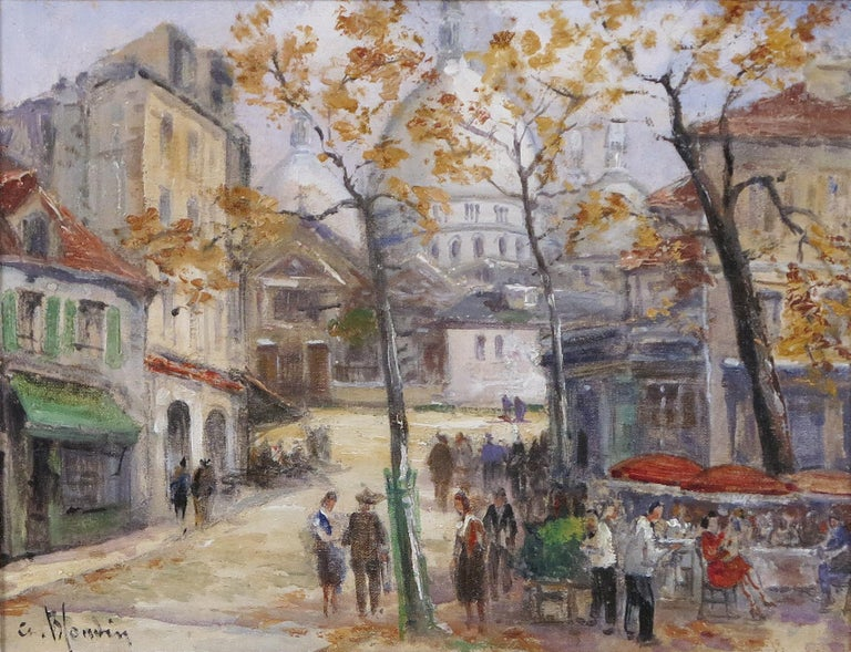 Charles Blondin Landscape Painting - Aux Cafe