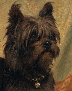 """Quick"" A Dog Portrait of a Brussels Griffon (1888)"
