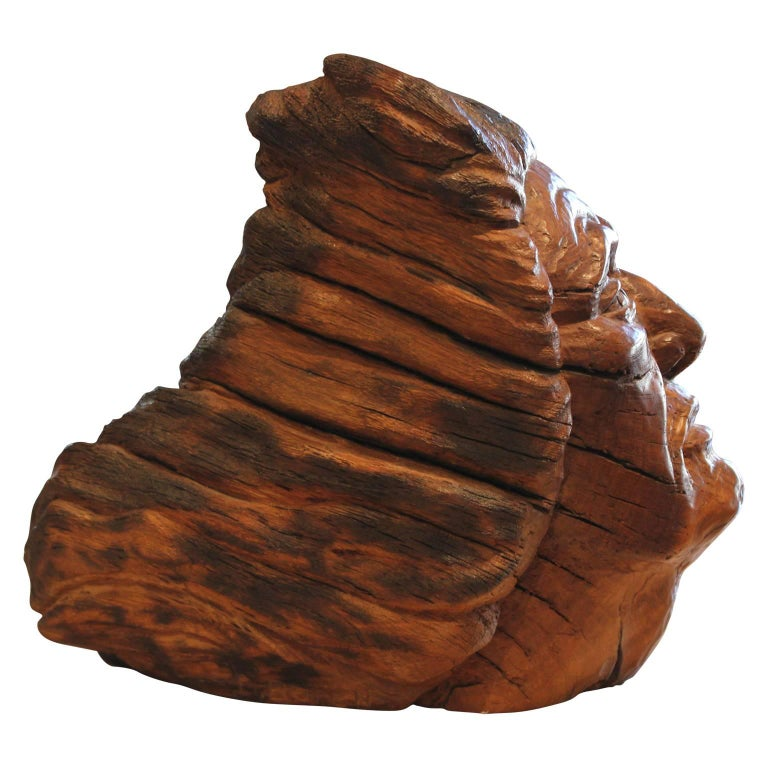 Carved Walnut Bust Sculpture For Sale 1