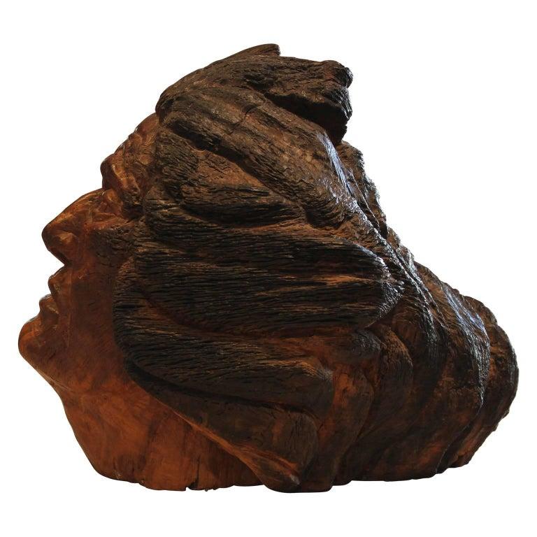 Carved Walnut Bust Sculpture For Sale 3