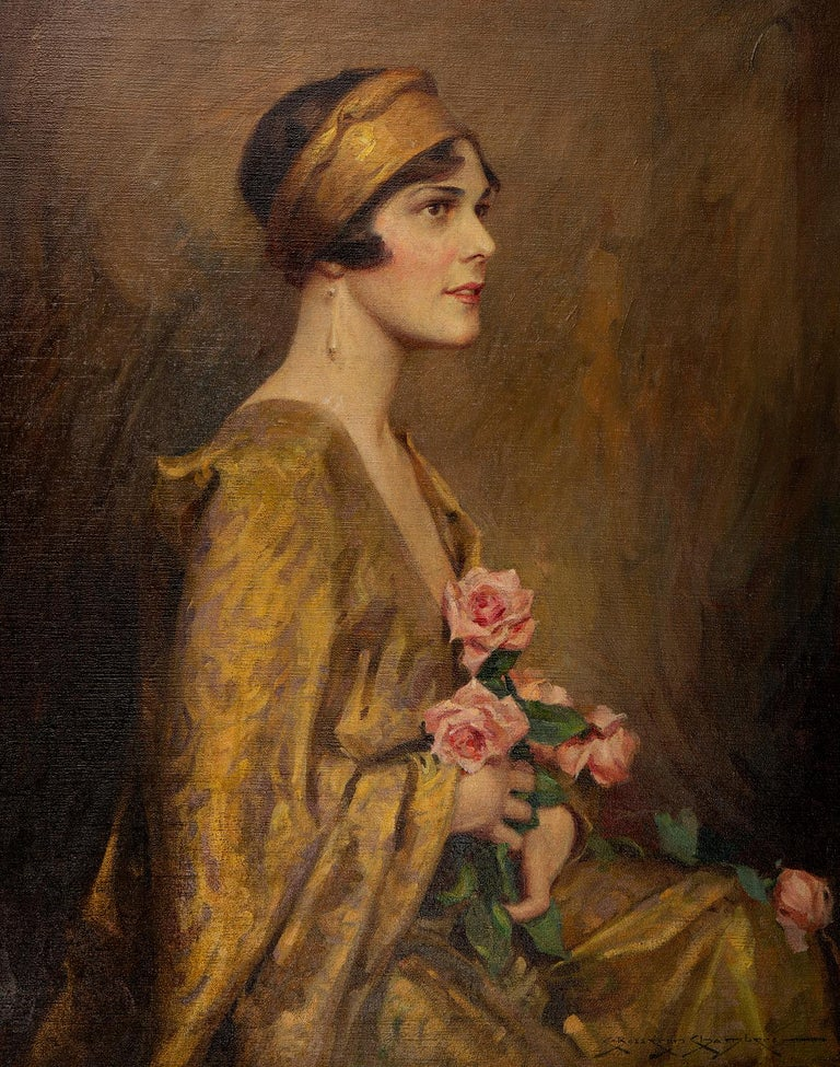 The Gold Kimono - Painting by Charles Bosseron Chambers