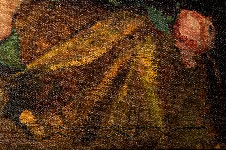 The Gold Kimono - Art Deco Painting by Charles Bosseron Chambers