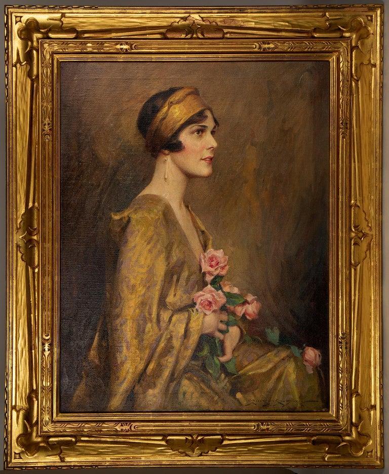 Charles Bosseron Chambers Portrait Painting - The Gold Kimono