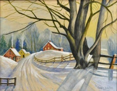 """Snow Scene"" by well listed Texas Artist"