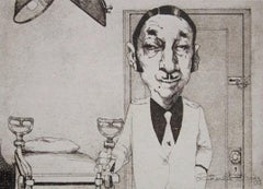 Gynecologist, Duotone Colored Lithograph, Charles Bragg