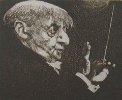 Maestro, Duotone Colored Lithograph, Charles Bragg