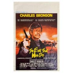 Charles Bronson Film Poster, Belgium, The Evil That Men Do 1984