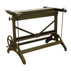 Charles Bruning Industrial Adjustable Drafting Table, circa 1940-1950