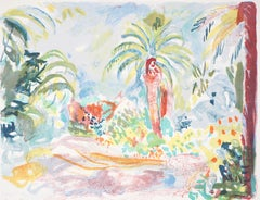 Mediterranean Landscape - Original Lithograph - Handsigned