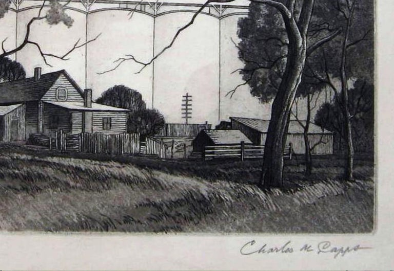 Charles Capps Original Pencil Signed Etching, 1954,