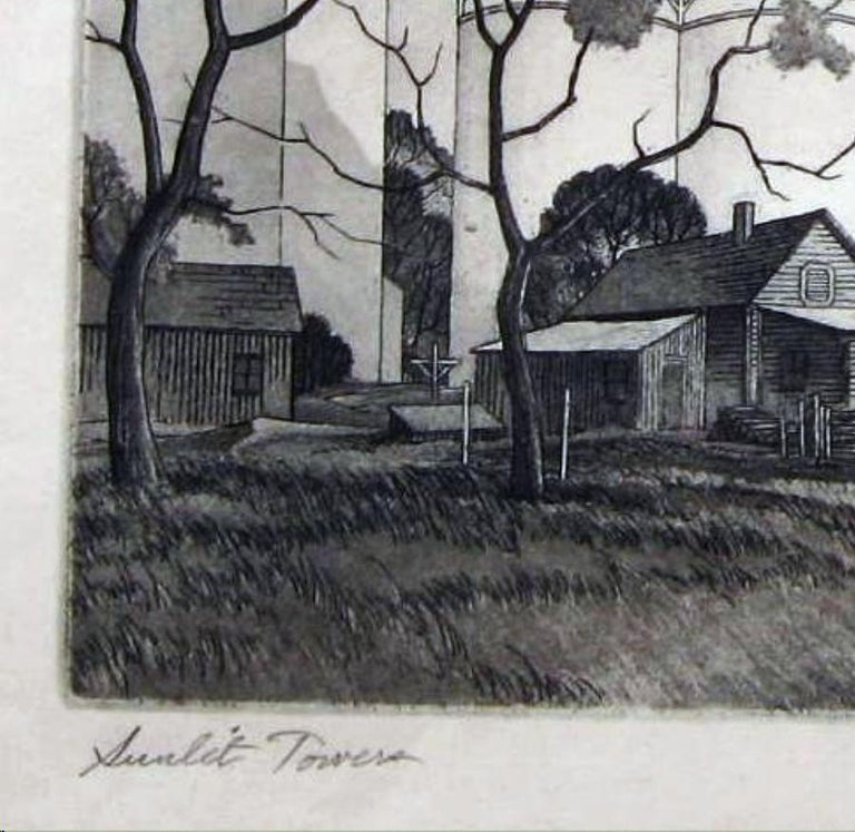 Paper Charles Capps Original Pencil Signed Etching, 1954,