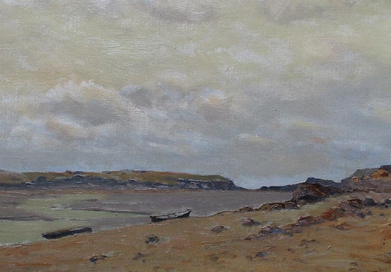 The Somme Bay, France - Painting by Charles Carlos-Lefebuvre