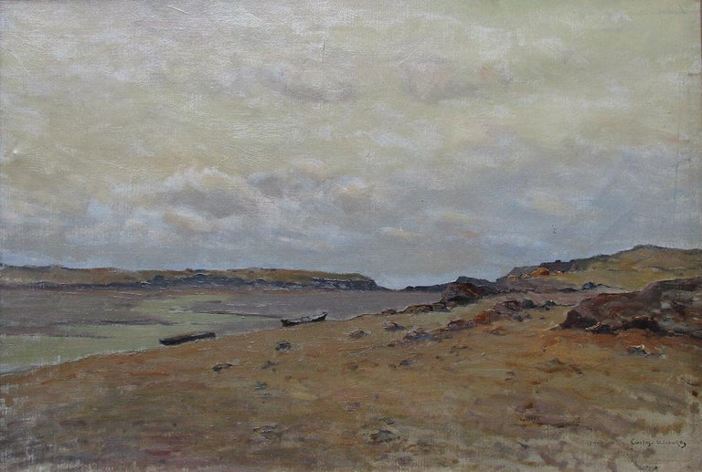 Charles Carlos-Lefebuvre Landscape Painting - The Somme Bay, France