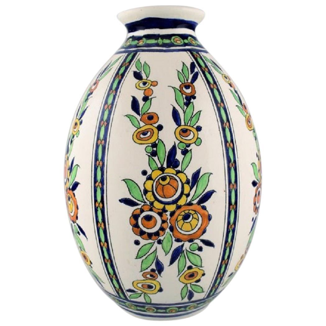 Charles Catteau, Boch Freres Keramis, Belgium, Large Art Deco Vase