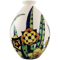 Charles Catteau for Boch Freres Keramis, Belgium, Art Deco Vase