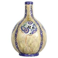 Charles Catteau Art Deco Vase for Boch Fréres, Belgium, 1920s
