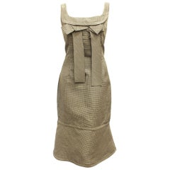 Charles Chang-Lima Black & White Check Print Sleeveless Dress