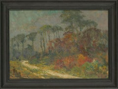 Charles Houssard (1884-1958) - Signed Belgian Oil, Woodland Path in Autumn