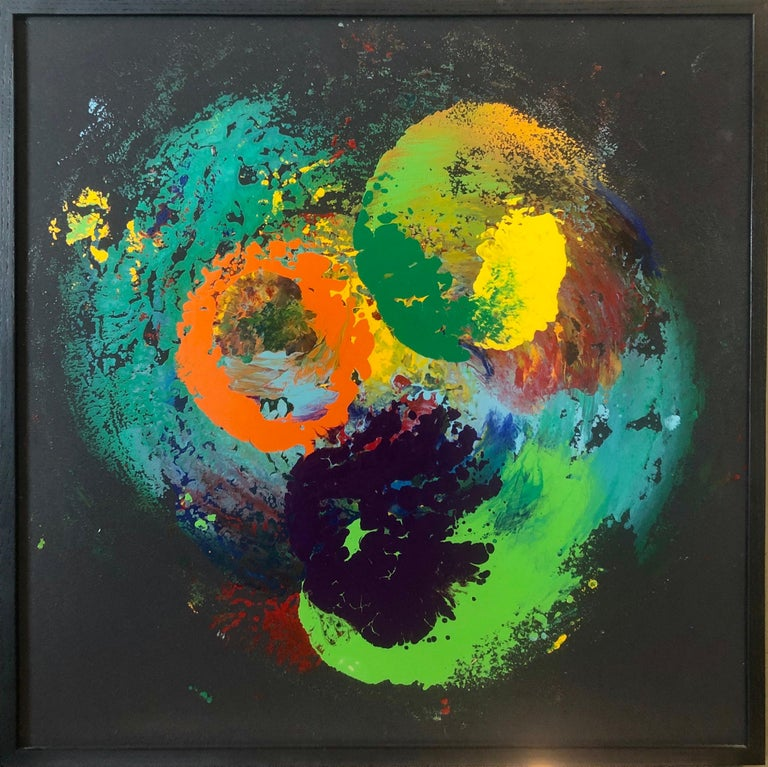 Charles Clough Picture Generation Abstract Expressionist Oil Enamel Painting For Sale 1
