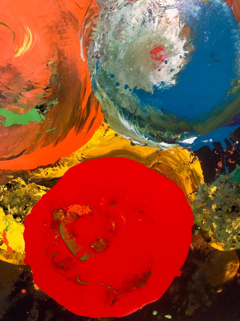 Charles Clough Picture Generation Abstract Expressionist Oil Enamel Painting For Sale 2