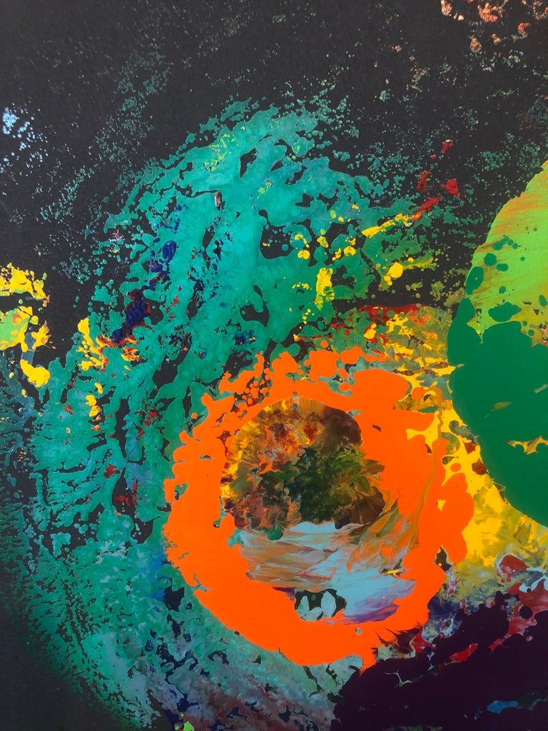 Charles Clough Picture Generation Abstract Expressionist Oil Enamel Painting For Sale 4