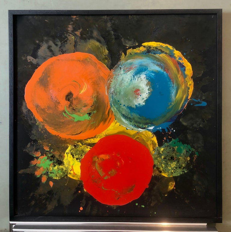Charles Clough Picture Generation Abstract Expressionist Oil Enamel Painting For Sale 5