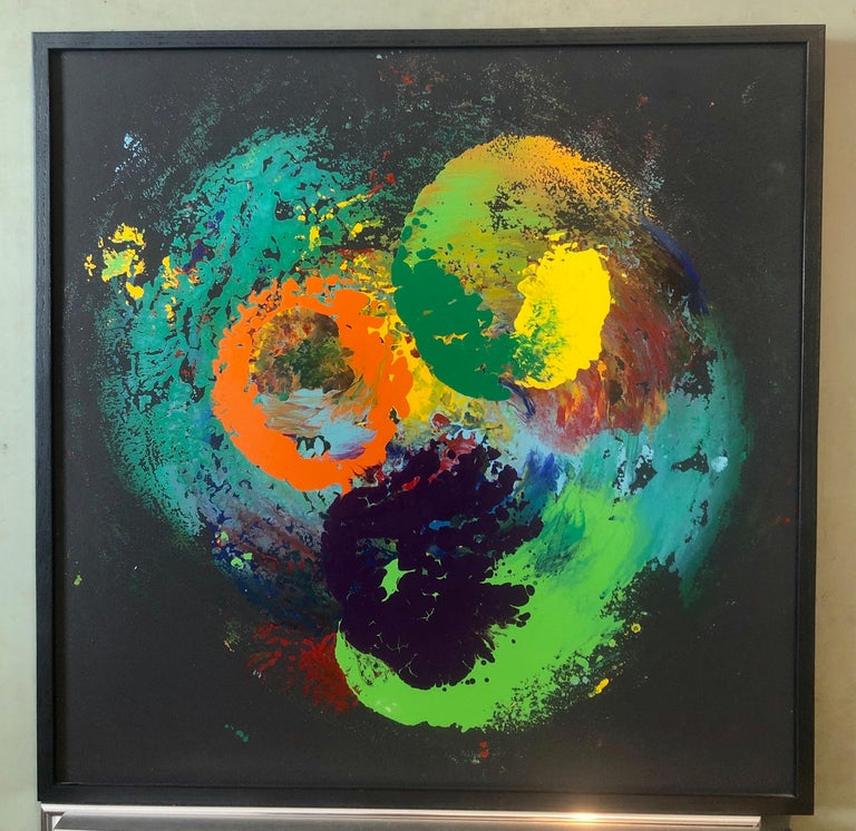 Charles Clough Picture Generation Abstract Expressionist Oil Enamel Painting For Sale 6
