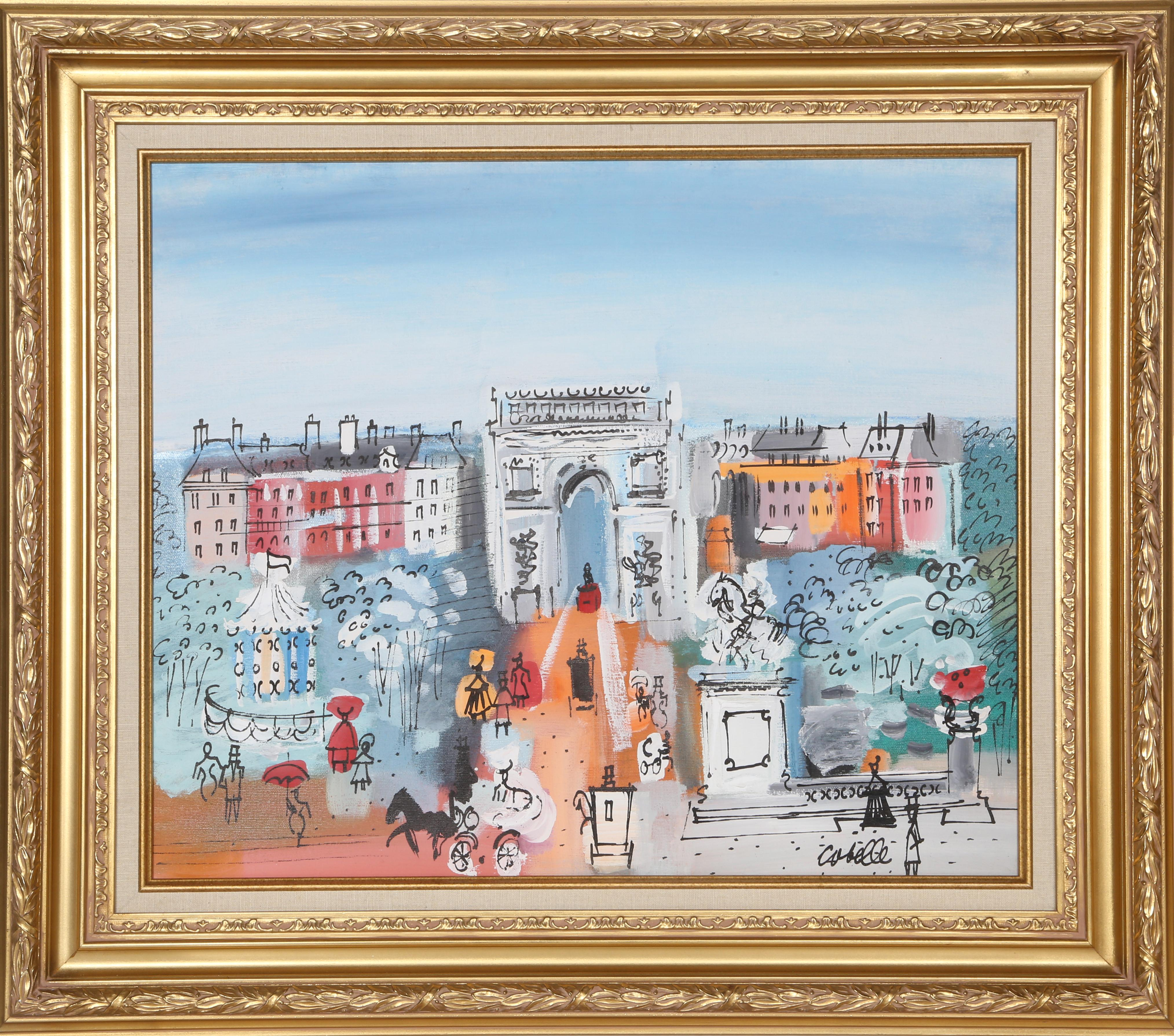 Grand Boulevard, Painting by Charles Cobelle 1961