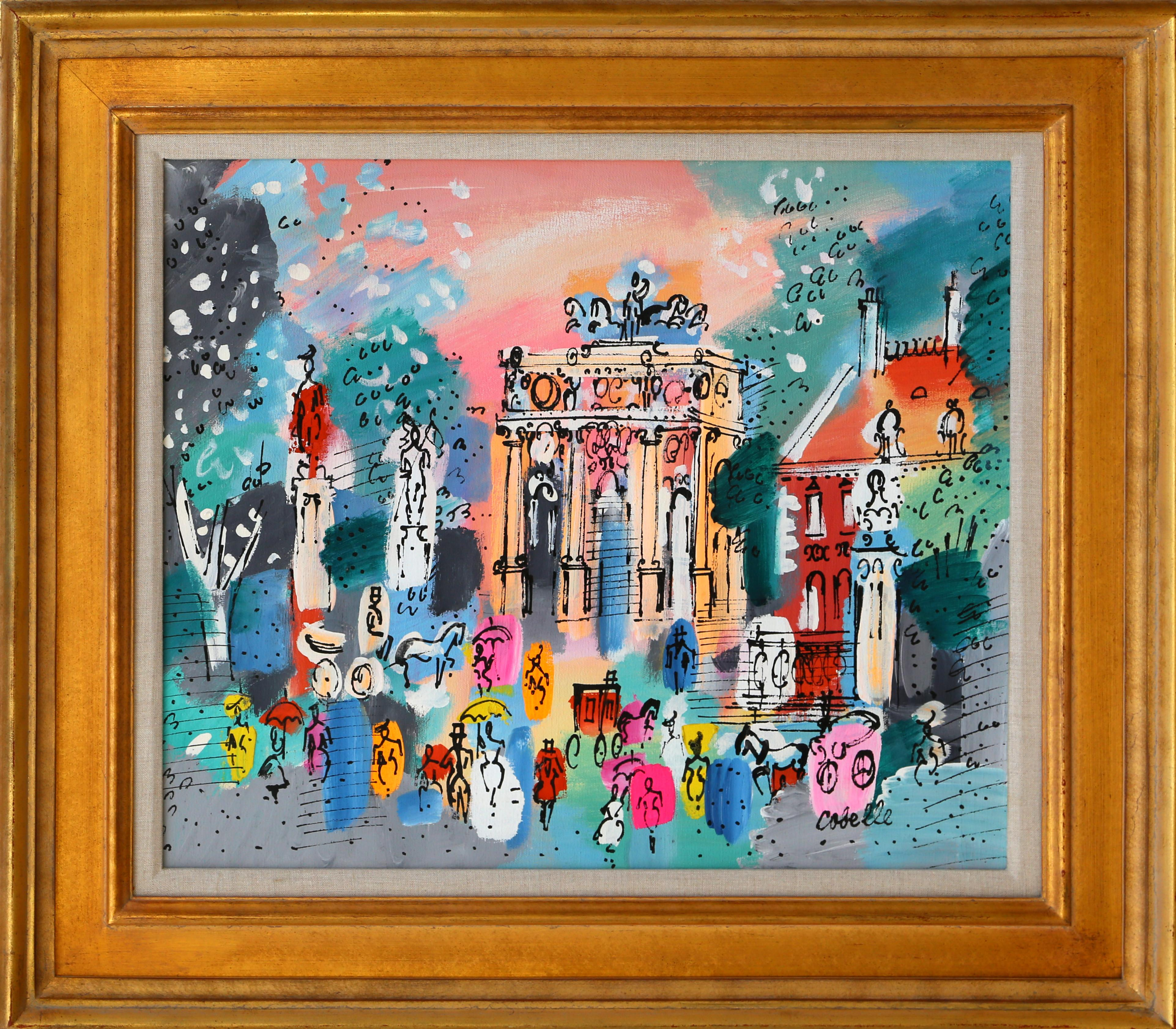 Monument, Paris Framed Painting by Charles Cobelle