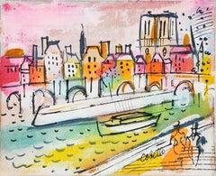 Notre Dame over the Seine